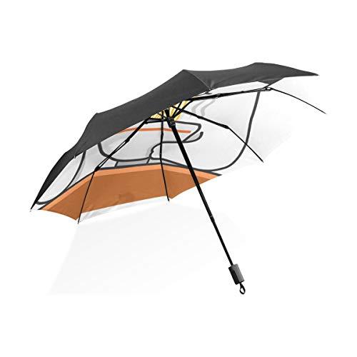 para Hombre A Prueba de Viento Paraguas Deliciosos Fideos Comida Portátil Compacto Paraguas Plegable Anti Protección Antivientos A Prueba de Viento Al Aire Libre Viajes Mujeres Calidad Paraguas