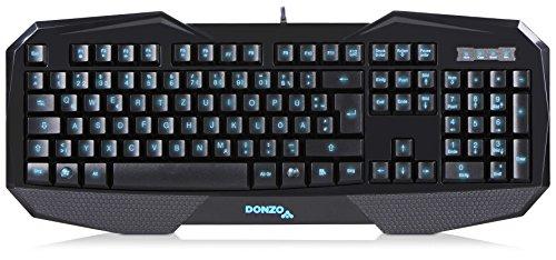 DONZO SI-859 Gaming Tastatur QWERTZ, USB schwarz, Multimedia, Bulk, Neuw.