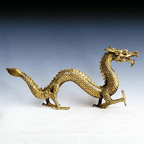 COCECOCE Gartenfiguren Skulpturen Statuen Dekoartikel Skulptur Kupfer Drachen Statue Feng Shui Von Einrichtungsdekorationen chinesischen Drachen Figur Skulptur Handwerk über 31 cm länge