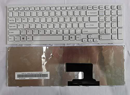 Replacement for Sony Vaio PCG-71811W PCG-71811M PCG-71911L PCG-71911M PCG-71912L PCG-71913L White Laptop US English Keyboard P/N 148793231