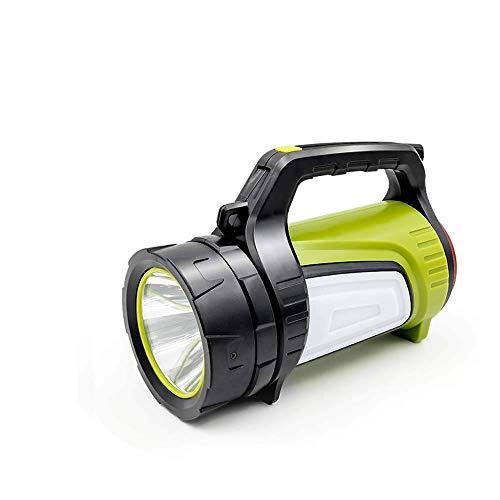 Led-handschijnwerper 1000 lumen, oplaadbare accu-handlamp met 8000 mAh powerbank, dimbare zaklamp incl. 2 lichtmodi 2 helderheidsniveaus, USB-kabel voor noodgevallen camping enz.