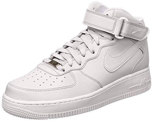 Nike Air Force 1 Mid 07 Zapatillas para Hombre, Blanco, Talla EU 43 ( 8.5 UK)