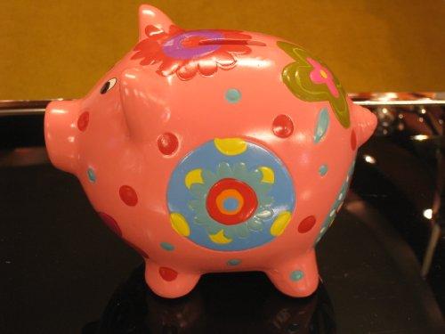 968007 Spaarvarken van keramiek, roze
