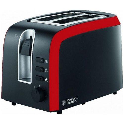 Russell Hobbs 20926036001 Tostadora, 930 W, Plástico, 2 Ranuras, Negro y rojo