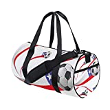 Unisex Chile Flag With Soccer Ball Gym Sport Team Issue Duffel Bag by Top Carpenter