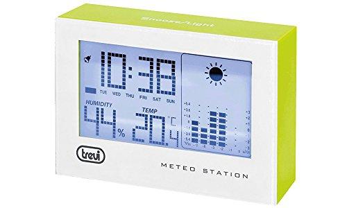 Trevi ME 3103 Stazione Meteo, Temperatura Interna, Umidità, Sveglia con Funzione Snooze, Verde