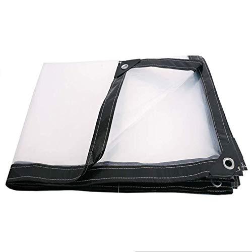 QIAOH Lona Transparente Terraza 5x6m, Toldo Exterior Transparente Impermeable Suave Y Duradero Protección Solar Anti-UV Lonas Transparente Terraza Vegetal Almacén Automóviles