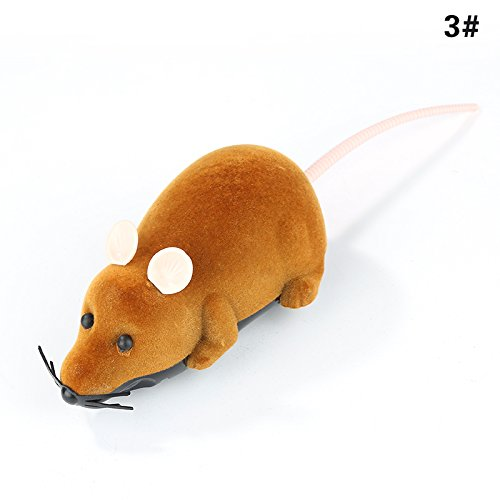 DESTINLEE Multicolor Novelty Gift Funny Wireless Controlled Mouse Remote Control Rat Pet Toy Cat Toy