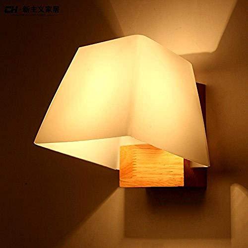 Meixian Wandlamp, moderne, minimalistische slaapkamer-achterwand met ronde glazen wandlamp, eenvoudig retro