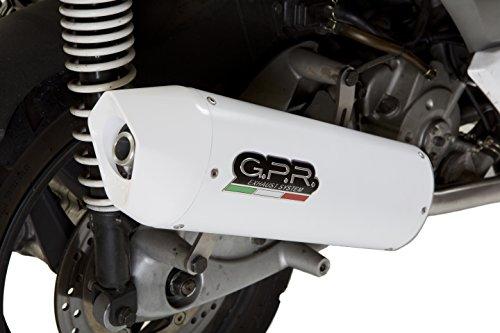GPR - Escape Exhaust System - Serie SCOM.194.ALB - Sistema completo homologado para scooter Kymco Superdink 125 I.E. 2009/14 - Línea Albus Ceramic