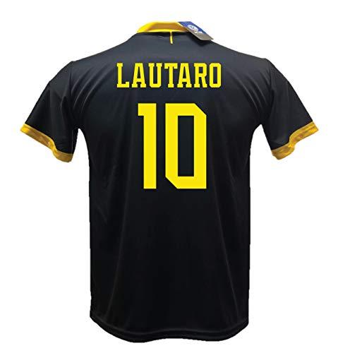 terza maglia inter DND Di D'Andolfo Ciro Terza Maglia Inter Nera Lautaro 10 Calcio Replica autorizzata 2019-2020 Away. Taglie da Bambino e Adulto (XL (Adulto))