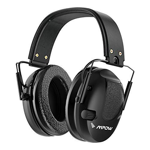 Shooting Ear Protection, Mpow Sound Amplification Electronic Shooting Earmuffs, 22dB NRR, Noise...