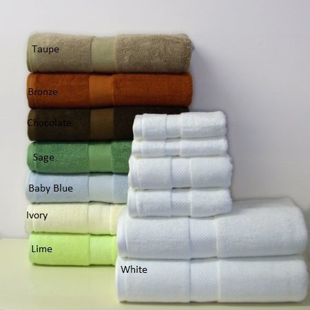 Royal Tradition Bamboo-Blend Towel Set, 6-Pieces, Sage-Green