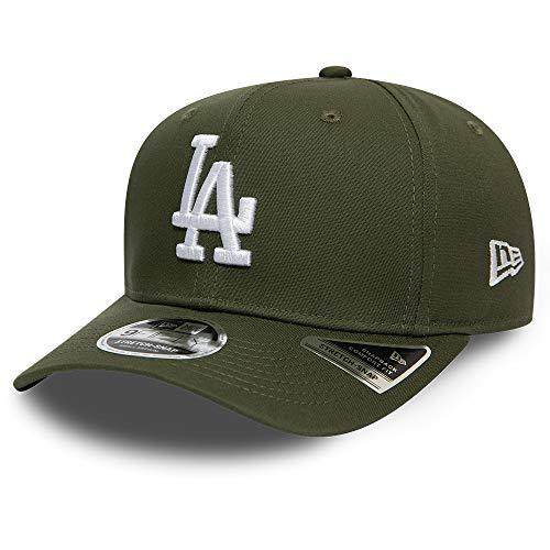 New Era Herren Snapback Caps MLB LA Dodgers Tonal Stretch 9Fifty Olive S/M