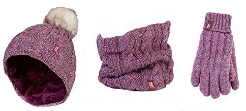 HEAT HOLDERS Damen Handschuh-Set mehrfarbig mehrfarbig, rosa