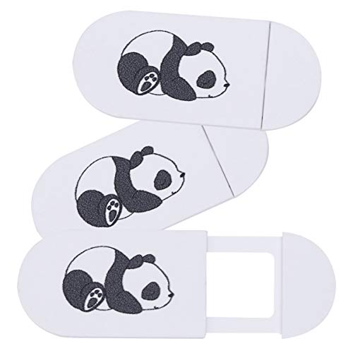SOLUSTRE 3 Stück Plastik Webcam Abdeckung Folie Niedlichen Panda Muster Web Kamera Abdeckung Privatsphäre Kamera Schieberegler für Laptop-Computer Telefone Tablets