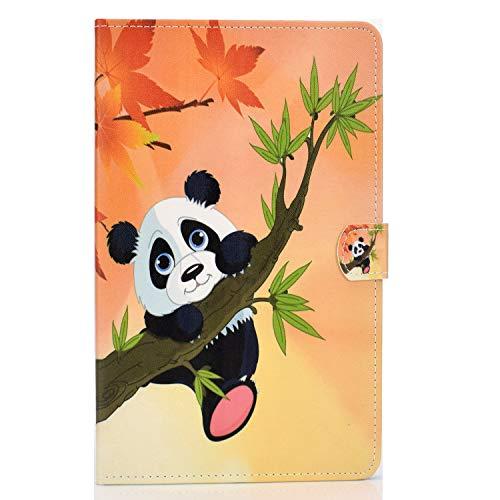 zl one compatible con / repuesto para tablet PC Samsung Galaxy Tab S5e 10.5 Model SM-T720/SM-T725/SM-T727 2019 PU piel Flip Cover Stand Magnetic Wallet Case (Panda)