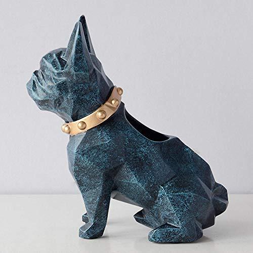 HJMEWW Animales Esculturasestatuilla De Resina para Perro, Soporte para Bolígrafo, Organizador De Escritorio, Accesorios De Oficina, Soporte para Lapicero