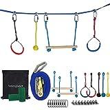Sunnyglade Outdoor Ninja Line Hanging Obstacle Course/Slackers Backyard Ninja Line Accessories for Kids