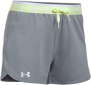 Womens UA Play Up Shorts, True Gray Heather/Pale Moonlight/White, XL