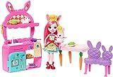 Enchantimals Bunny en cocina divertida, muñeca con mascota y accesorios (Mattel FRH47) , color/modelo surtido