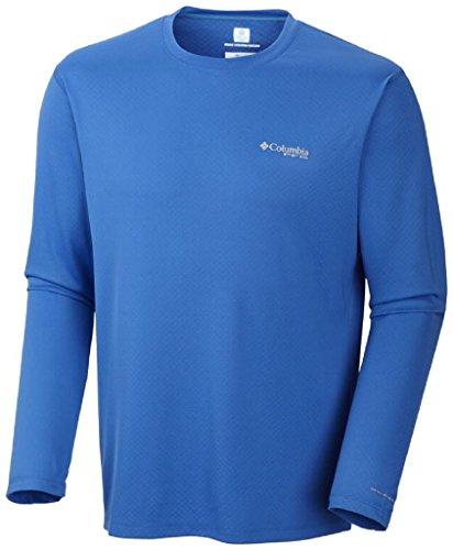 Columbia Men's Standard PFG Zero Rules Long Sleeve Shirt, Vivid Blue, XX-Large