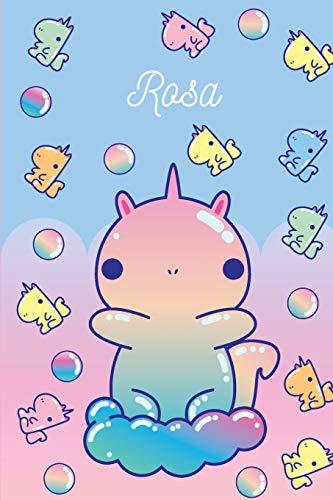Rosa: Gummibärchen Einhorn - Notizbuch Kritzelbuch Persönliches Geschenk Für Mädchen