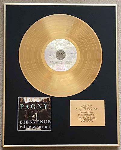 Century Music Awards - FLORENT PAGNY CD édition limitée avec revêtement or 24 carats – BIENVENUE CHEZ MOI