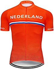 Summer National Team Cycling Jersey MTB Uniform Mens Short Ropa Ciclismo Bicycle Kleding Quick Dry Bike kleren te dragen Ylcxdm (Color : Ivory, Size : Medium)