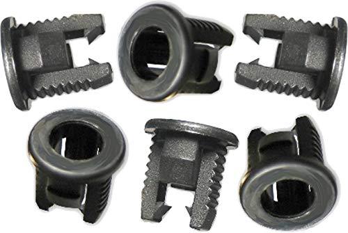 LED Montageringe Plastik schwarz für LEDs (3mm, schwarz, 20)