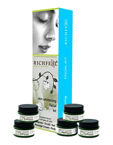 Richfeel Beautiful Natural Skin Whitening Facial Kit Complete Facial For All Skin