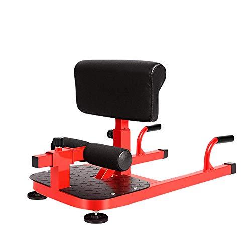DBSCD Equipo de Entrenamiento físico, máquina de Sentadillas Sissy, máquina de Sentadillas multifunción para el hogar, 6 Engranajes Ajustables en Altura, Marco de Soporte en Forma de U
