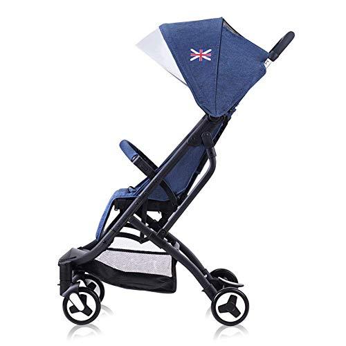 Piezas mecánicas Carrito de cochecito Aleación de aluminio plegable ligera Puede sentarse en el recién nacido Puede estar en el avión Amortiguador Bebé con sistema de seguridad de 5 puntos y asient