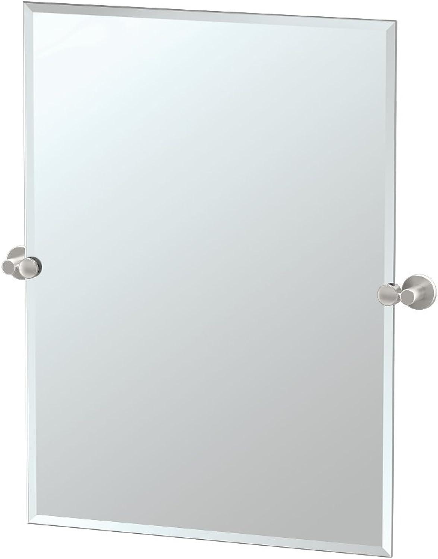 Gatco 4699S Channel Rectangle Mirror, Satin Nickel