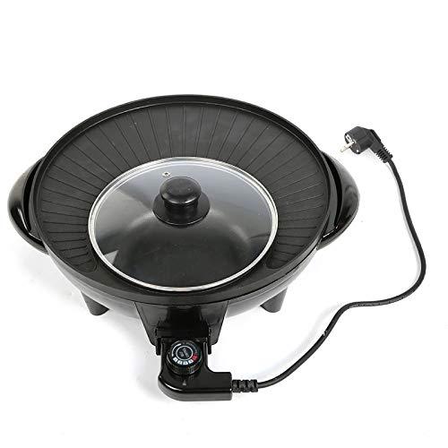 Parrilla eléctrica ligera para barbacoa ADC12 de aluminio, para 6 personas o...