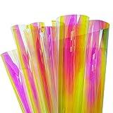 Rollo de película de 45 cm x 200 cm de color camaleón para ventana con efecto arcoíris iridiscente película holográfica de adhesivo para decoración de vidrio residencial (Blaze)