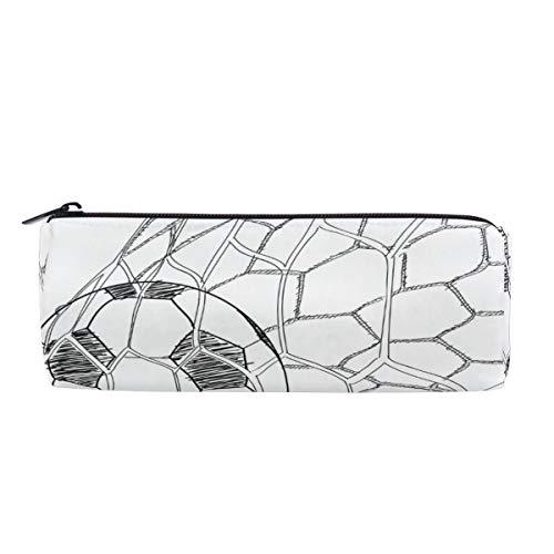 Wamika Federmäppchen, Fußball-Design, in Tornetz, Schwarz/Weiß
