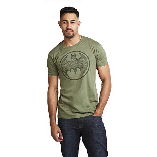 DC Comics Herren Batman 3D T-Shirt, Grün (Military Green Military), Large