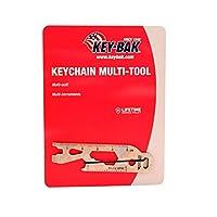 KEY-BAK Keychain Multi-Tool, Silver by Key-Bak