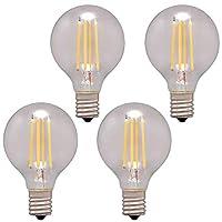 【4個セット】LEDフィラメント電球 ミニボール球 E17 40W相当 440lm 昼白色相当 LDG4N-G-E17-FC アイリスオーヤマ