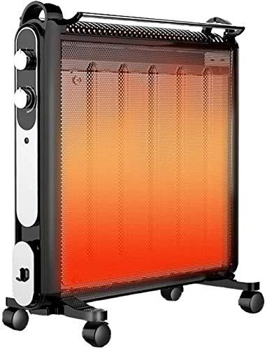 Kücheks Radiador de Mica sin Aceite de 2200 W, 2 configuraciones de Calor Calentador micotermico de Oficina en casa con termostato de Temperatura Ajustable y Control Remoto