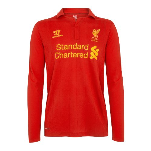 Original Liverpool FC Home Kinder-Trikot Langarm Warrior NEU,Rot (High Risk Red), M
