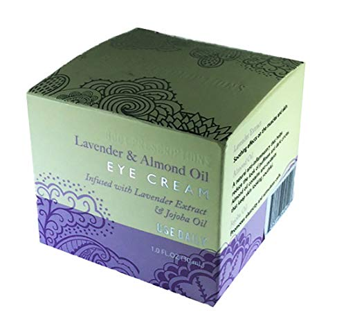 Lavender And Almond Oil Eye Cream Infused with Lavendar Extract and Jojoba Oil