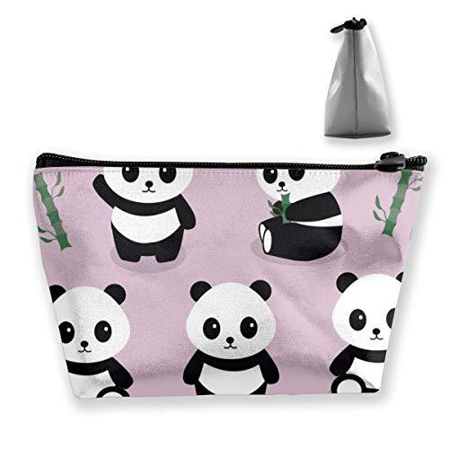 Multi-Functional Print Trapezoidal Storage Bag for Female Pandas