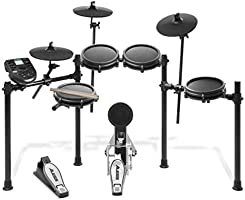 Alesis Drums Nitro Mesh Kit | Eight Piece All Mesh Electronic Drum Kit With Super Solid Aluminum Rack, 385 Sounds, 60...