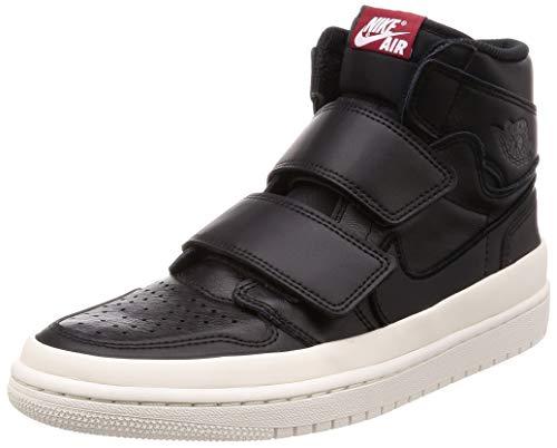 Jordan Nike Men's Air 1 Retro Hi Double Strap Basketball Shoe (10.5), Black/Gym Red Sail