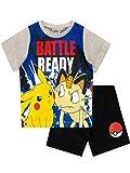 Pokemon Pijamas para Niños Pikachu Gris 5-6 Años