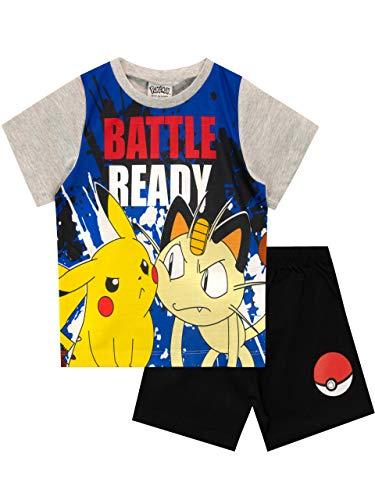 Pokemon Pijamas para Niños Pikachu Gris 7-8 Años