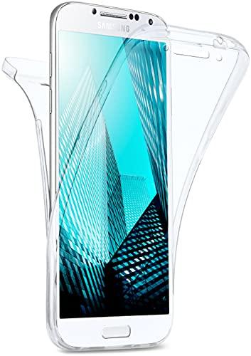 MoEx Cover Fronte-Retro in Silicone Compatibile con Samsung Galaxy S4   Trasparente, Trasparente