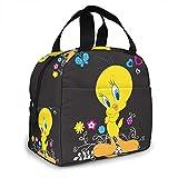 Classic Anime Bird Insulated Lunch Bag Box for Women Teens Kids Girls Boys Portable Reusable